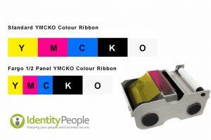 Half Panel YMCKO Colour Printer Ribbons
